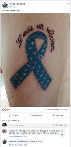 ruban tatoue