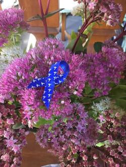 Ruban sur fleurs