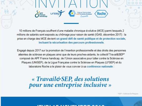"""Conférence sur """"Travail et SEP"""""""