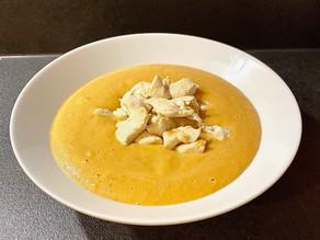 Soupe de carotte et poulet