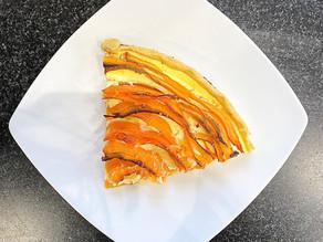 Quiche aux carottes, cumin et beaufort
