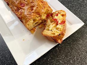 Cake tomates cerise, mozzarella et basilic