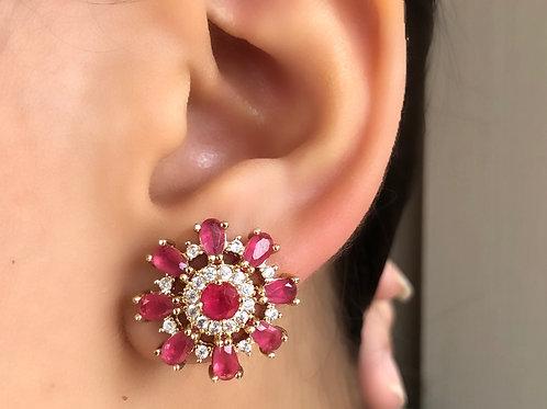 Brinco Pink Petal