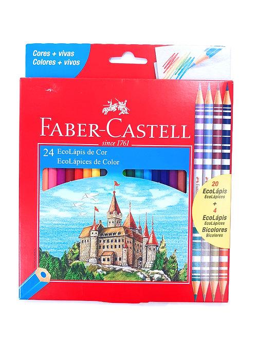 EcoLápis de Cor Faber Castell 24 Cores