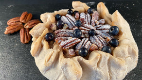 Gluten free pecan and bilberry galette