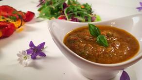 Mediterranean tomato salad dressing