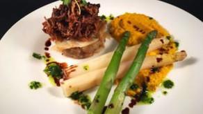 Lamb shoulder with carrot turmeric sauce and boulangere potatoes