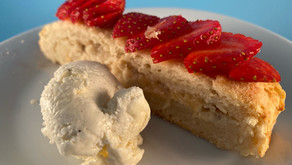 Gluten free rhubarb and almond sourdough loaf