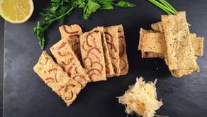 Vegan oatcakes with sauerkraut