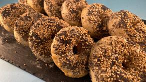 Gluten free vegan sourdough bagels