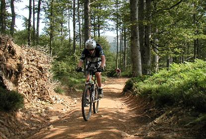 Kilometer Mountainbikewege