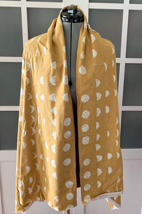 Modern Moon Jersey Knit Sharf (scarf/shawl) w/ 2 zippered pockets