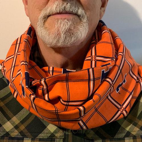 U of I Flannel Infinity Scarf w/ Zippered Pocket