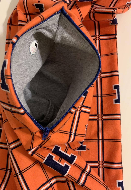 Thumbnail: U of I Flannel Infinity Scarf w/ Zippered Pocket