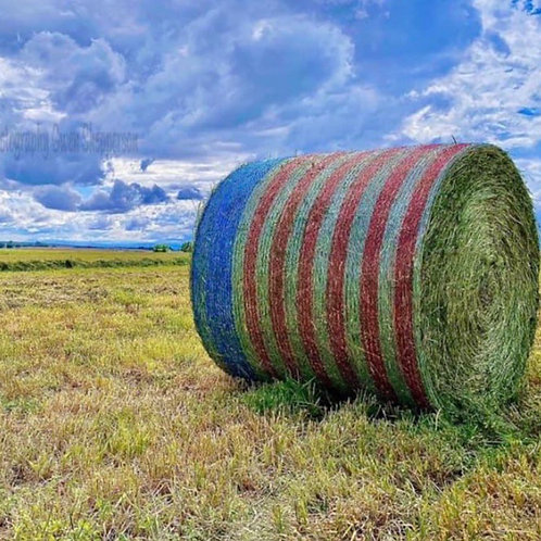 American Flag Hay Wrap (available now)