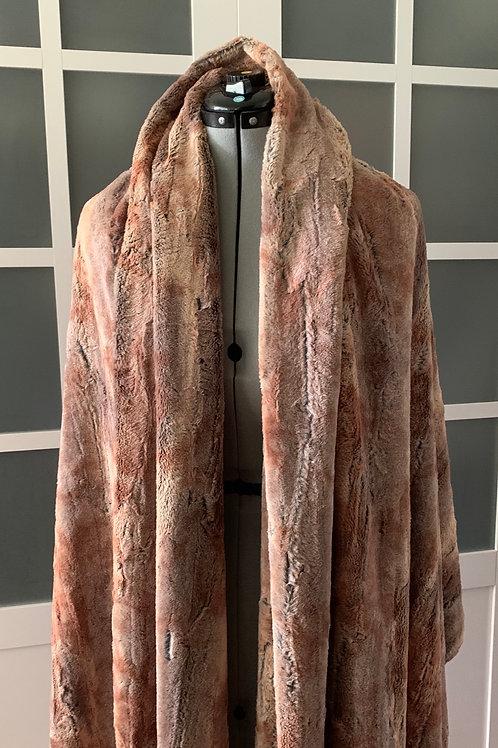 Red Fox Minky Sharf (scarf/shawl) w/ 2 zippered pockets