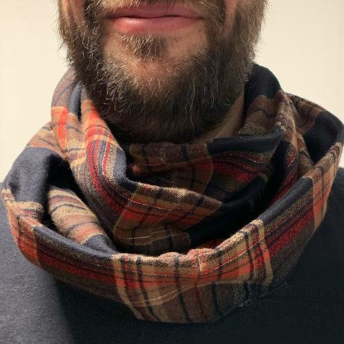 Flannel Infinity Scarf w/ Hidden Zippered Pocket