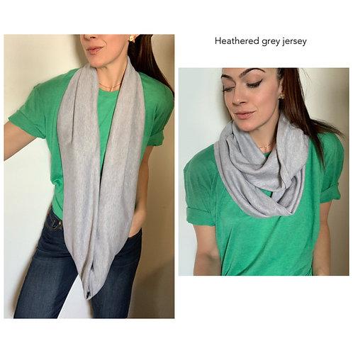 Jersey Knit Infiniy Scarf w/ Zippered Pocket
