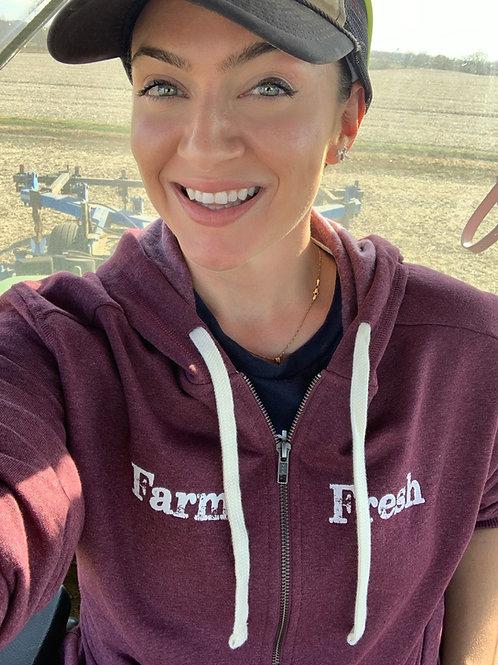 """Farm Fresh"" Super Cozy Zip Hoodie"