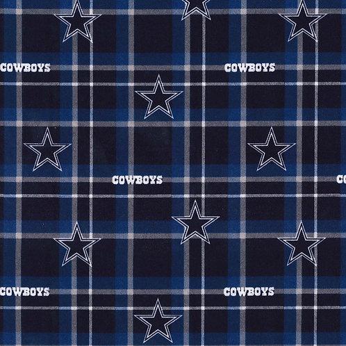 Dallas Cowboys Flannel Infinity Scarf w/ Zippered Pocket