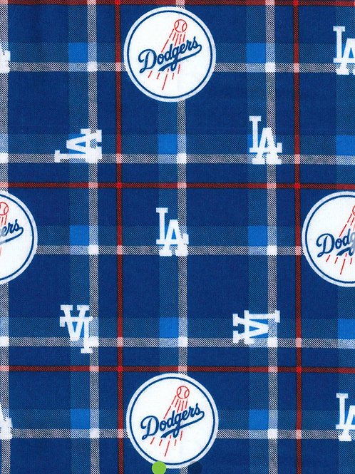 LA Dodgers Flannel Infinity Scarf w/ Zippered Pocket