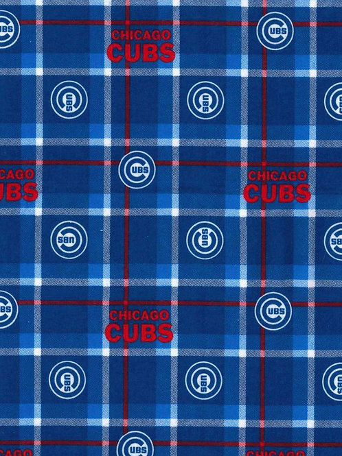 Chicago Cubs Flannel Infinity Scarf w/ Zippered Pocket