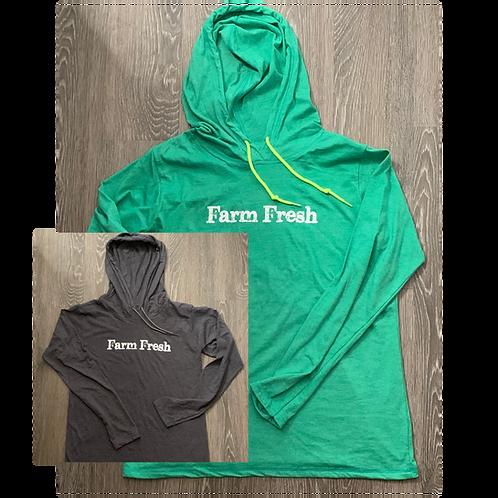 """Farm Fresh"" Women's Lightweight Long-Sleeve Hoodie"