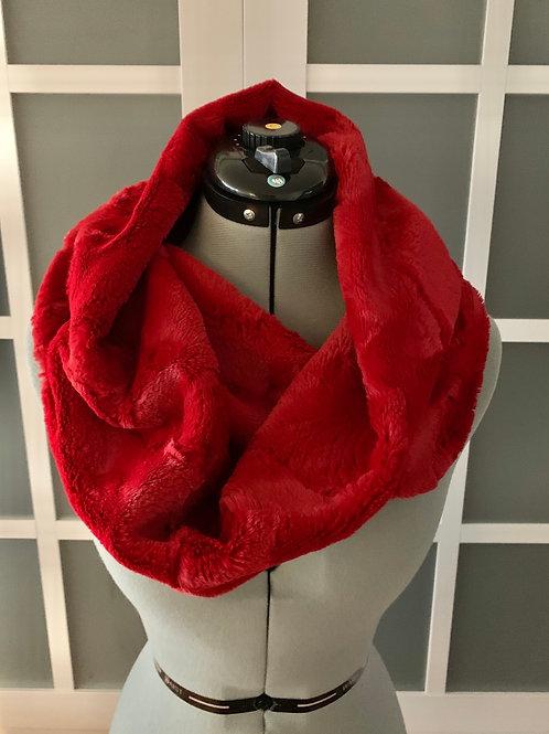 One Loop 'Cardinal' Minky Scarf w/ Zippered Pocket