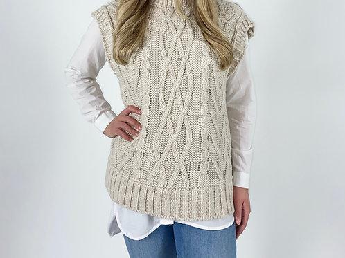 Alanah Cream Sleeveless Knit