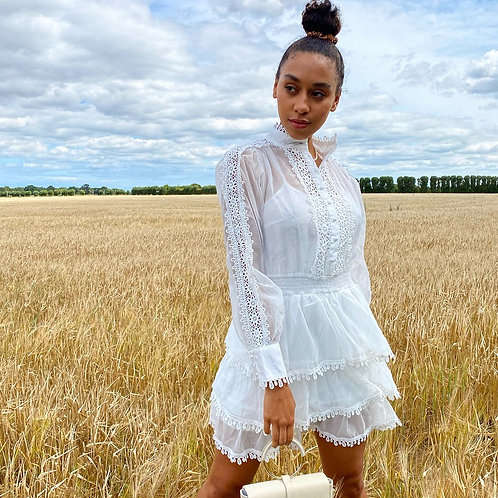 Talitha White Lace Detail Dress