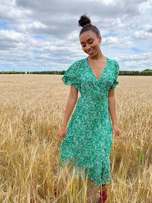 Pippa Green Grass Maxi Dress