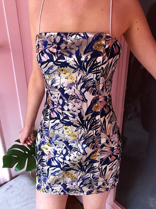 Myah Blue Floral Mini Dress
