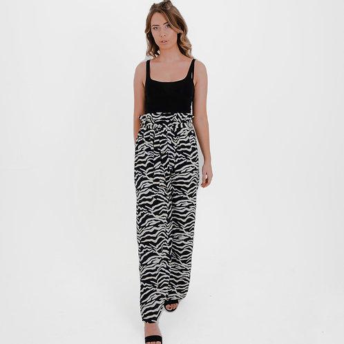 Cheska Neon Zebra Print Trousers