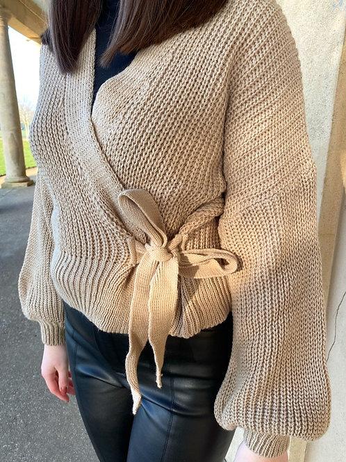 Alexandra Cropped Wrap Knit