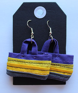 Quilted Tote Bag Earrings