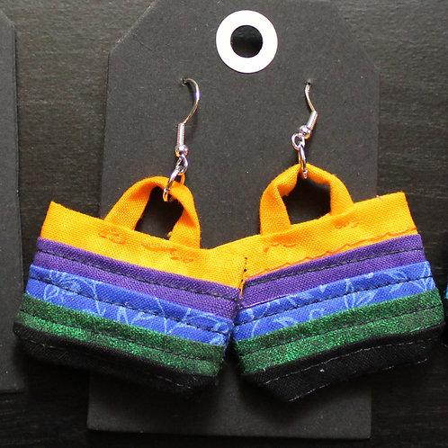 Quilted Tote Bag Earrings