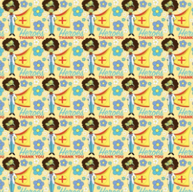 Medical Hero - fabric design by URB