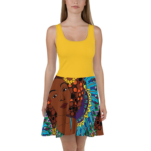 Coloring Curls Skater Dress - Melanie
