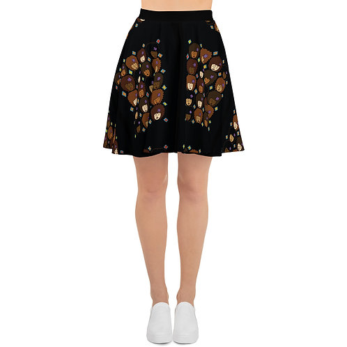 Coloring Curls Skater Skirt - Love My Afro