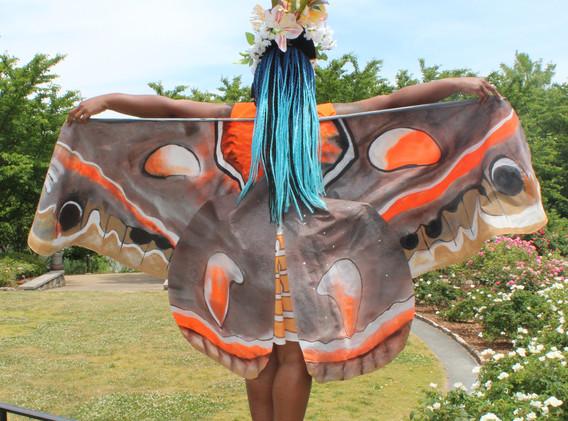 Cecropia costume back