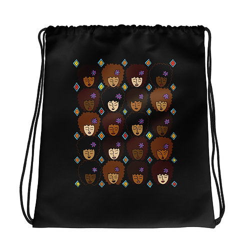 Coloring Curls Drawstring bag - Love My Afro