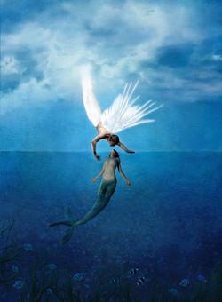 mermaid angel love