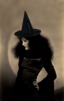 Myrna Loy as a spooky beautiful Halloween Witch, Paris 1960, Photo by Edouard Boubat.