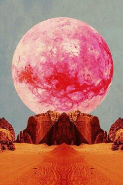 pink desert moon