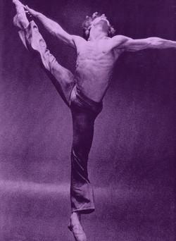 michael baryshnikov b&w purple