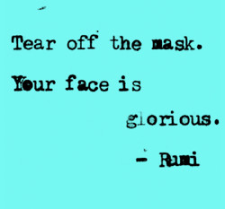 tear off the mask blue