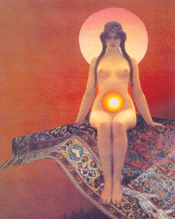 deco moon carpet goddess