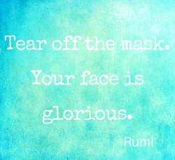 tear oof mask green aqua