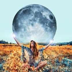 pale blue full moon