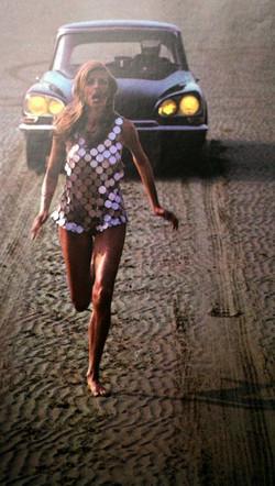 helmut newton running in sequins